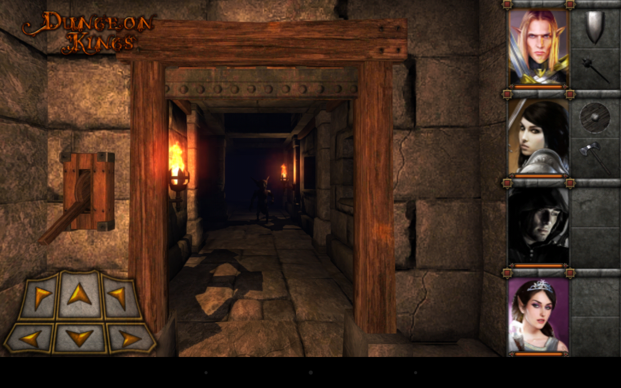 Screenshot of Dungeons Kingdom running on Nexus 7 tablet device.